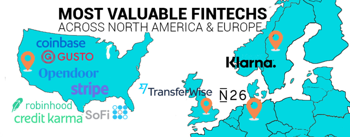 Top 10 Most Valuable Fintechs Across North America and Europe